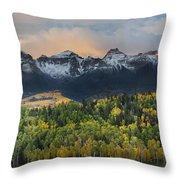 San Juan Mountains Fall Colors Sunrise Throw Pillow