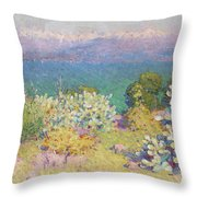 Alpes Maritimes From Antibes Throw Pillow