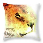 Alpha And Omega Throw Pillow