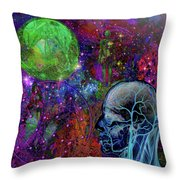 Alpha And Omega Electromagnetic Throw Pillow