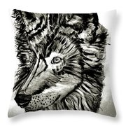 Alpha Male - The Wolf Throw Pillow