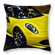 Alpha Romeo 4c Spider Throw Pillow