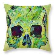Alpha Skull Throw Pillow