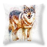 Alpha Wolf Throw Pillow