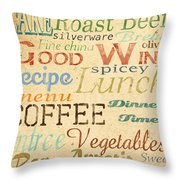Alphabet Soup-a Throw Pillow