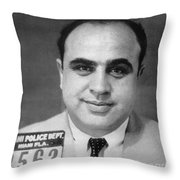 Alphonse Capone (1899-1947) Throw Pillow by Granger