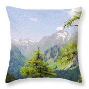 Alpine Altitude Throw Pillow by Jeff Kolker