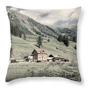Alpine Farm Throw Pillow