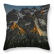 Alpine Glow Throw Pillow