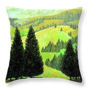 Alpine Hills Throw Pillow