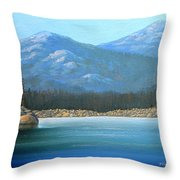 Alpine Lake Throw Pillow