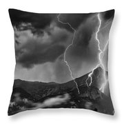Alpine Lightning Throw Pillow