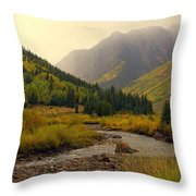 Alpine Loop Fall Throw Pillow