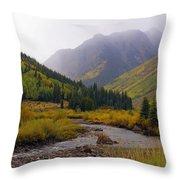 Alpine Loop Road Throw Pillow