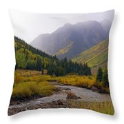 Alpine Loop Road Throw Pillow