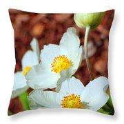 Alpine Pasqueflower Throw Pillow