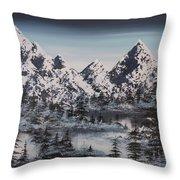 Alpine Peaks Throw Pillow