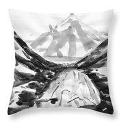 Alpine River Throw Pillow
