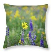 Alpine Sunflower Throw Pillow