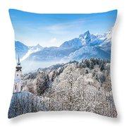 Alpine Winterdreams Throw Pillow