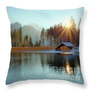 Alplake Winter Version Throw Pillow