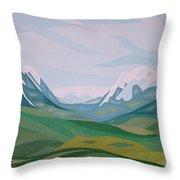 Alps 2 Throw Pillow