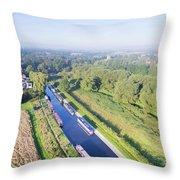 Alrewas Canal Throw Pillow