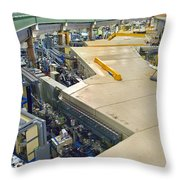 Als Beamlines And Inner Ring Throw Pillow