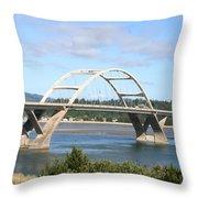 Alsea Bridge II Br-7005 Throw Pillow
