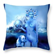 Alta, Roman Goddess Of Water Throw Pillow