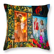 Altar Painted By Famous John Walach Throw Pillow