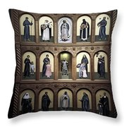 Altar Screen Cathedral Basilica Of St Francis Of Assisi Santa Fe Nm Throw Pillow