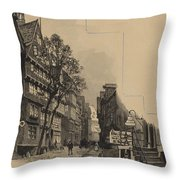 Alte Strasse Throw Pillow