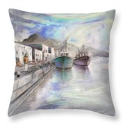Altea Harbour On The Costa Blanca 01 Throw Pillow