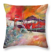 Altea Harbour Spain Throw Pillow