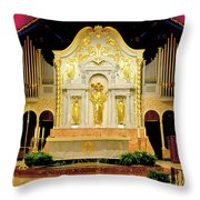 Alter - Cathedral Of St. Augustine Throw Pillow