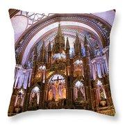 Alter Inside Basilica Of Notre Dame, Montreal, Quebec, Canada. Throw Pillow