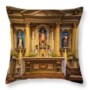 Alter Of The Mission San Buenaventura Throw Pillow