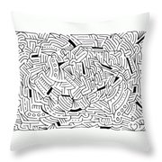 Alteration Throw Pillow