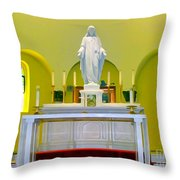 Altered Altar Throw Pillow