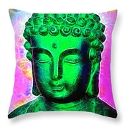 Altered Buddha Throw Pillow