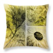 Altered Florals Throw Pillow