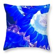 Alternate Reality Sunflower Throw Pillow