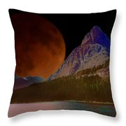 Alternate Universe Glacier Park Throw Pillow