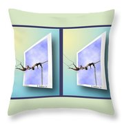 Alternate Universes - Gently Cross Your Eyes And Focus On The Middle Image Throw Pillow