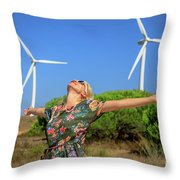 Alternative Energy Concept Throw Pillow