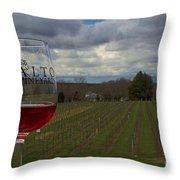 Alto Vineyards Throw Pillow
