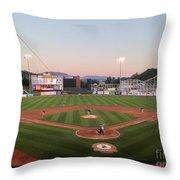 Altoona Curve Baseball Sunset Throw Pillow