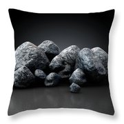 Aluminum Nugget Collection Throw Pillow
