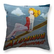 Aluminum Overcast Throw Pillow